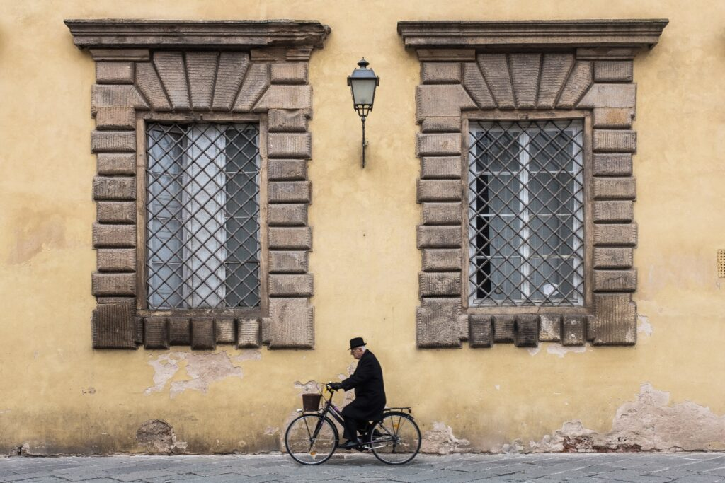 Streetphoto in the city of Lucca