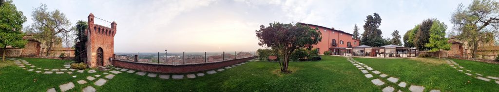Early morning at the Castello Rosso Hotel ( Cuneo )